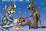Tom Jerry n Scooby say cheese