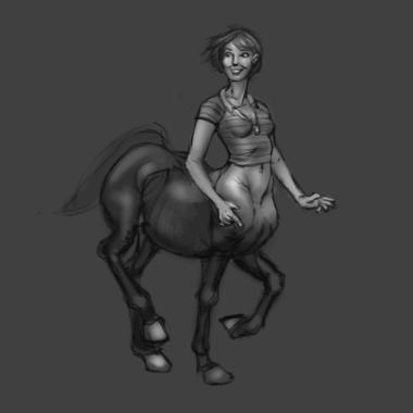Modern Centaur girl by liminalbean