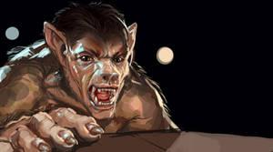Werewolf Change by liminalbean