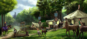 Centaur Camp by liminalbean
