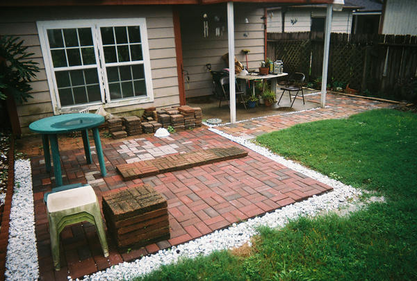 Paverstone Patio With Path By Shintocelt ...
