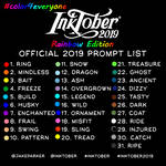 Inktober 2019 Rainbow Edition Challenge by Raben-Katze