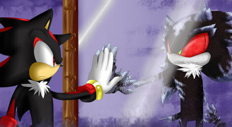 Shadow and Mephiles by ShadaTHedgehog on DeviantArt