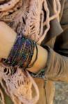 Woven glass seed beads bracelet