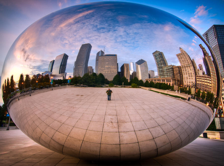 chicago bean and photographer by alierturk on deviantart On chicago bean painting