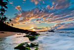 Hawaii, in the waves