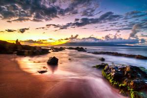 Hawaii, watching the sunset by alierturk
