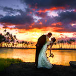 Hawaii, the sunset wedding