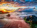 Hawaii, the sun goes down...