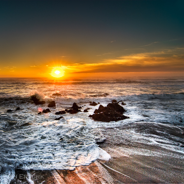 San Francisco, Sunset at Ocean Beach by alierturk