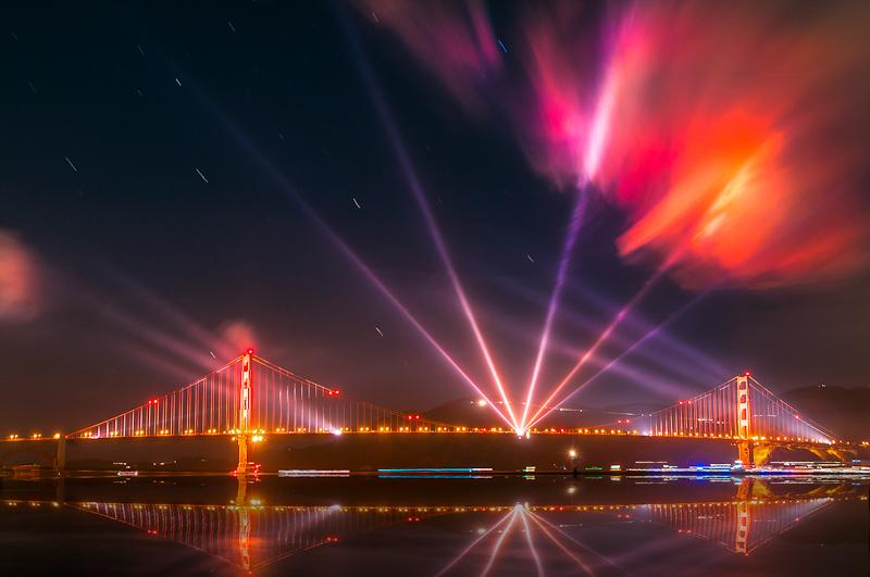 San Francisco, Aurora of Golden Gate by alierturk