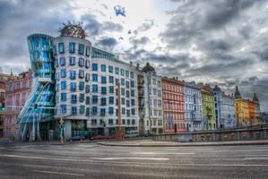 Prague, friends of Dancing House