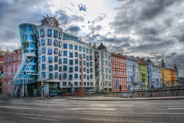 Prague, friends of Dancing House