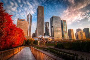 Chicago, red walk to the city by alierturk