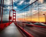 San Francisco, Golden Gate walk by alierturk