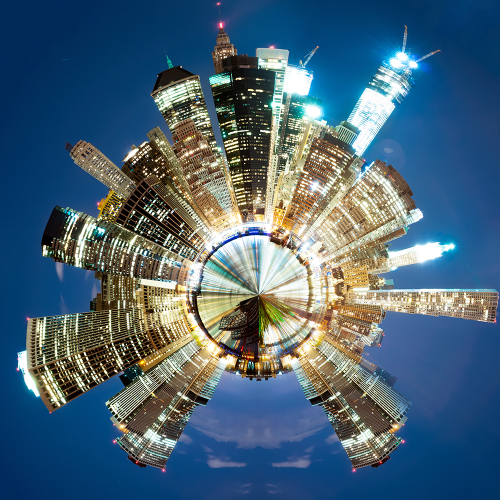 New York, Financial District Skyline by alierturk