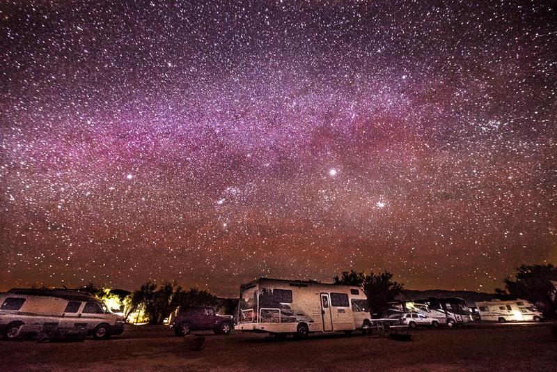 Death Valley, camping under the stars by alierturk