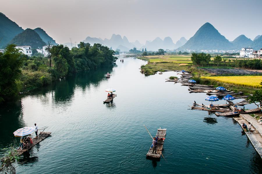 Li River, visitors