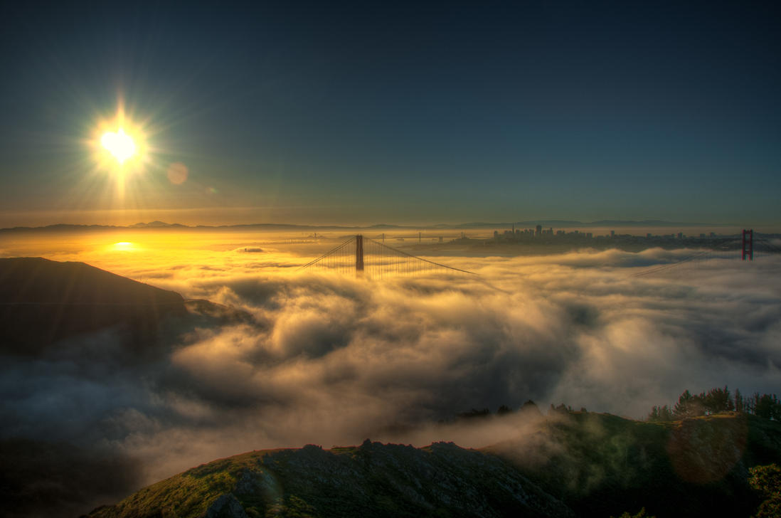 Swirl of the fog, San Francisco by alierturk