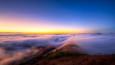 Golden Gate, early morning lights by alierturk