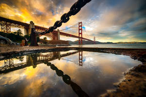 Golden Gate, reflection by alierturk