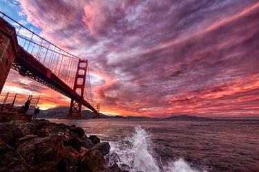 Golden Gate, amazing sky by alierturk