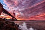 Golden Gate, amazing sky
