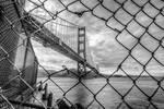 Golden Gate arrested BW