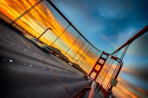 Golden Gate, amazing sky and walk 1  by alierturk