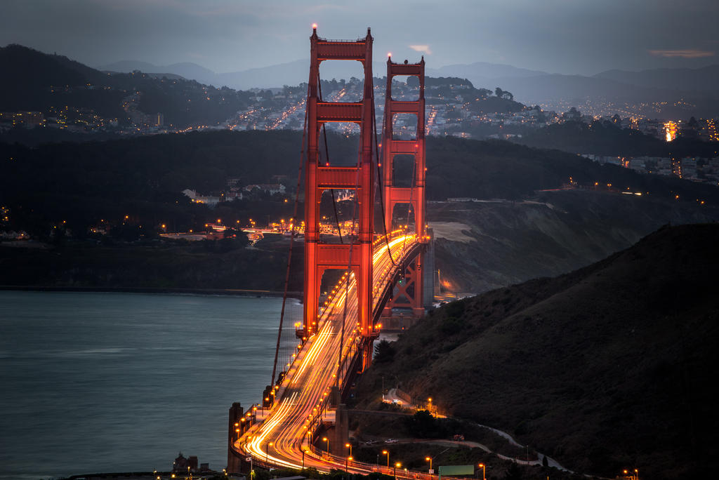 Golden Gate, two towers by alierturk