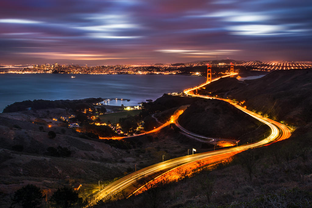 Curves of Golden Gate, San Francisco by alierturk