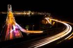 San Francisco, curves bridge and the city