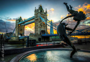 London Tower Bridge Sunset by alierturk