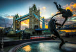 London Tower Bridge Sunset