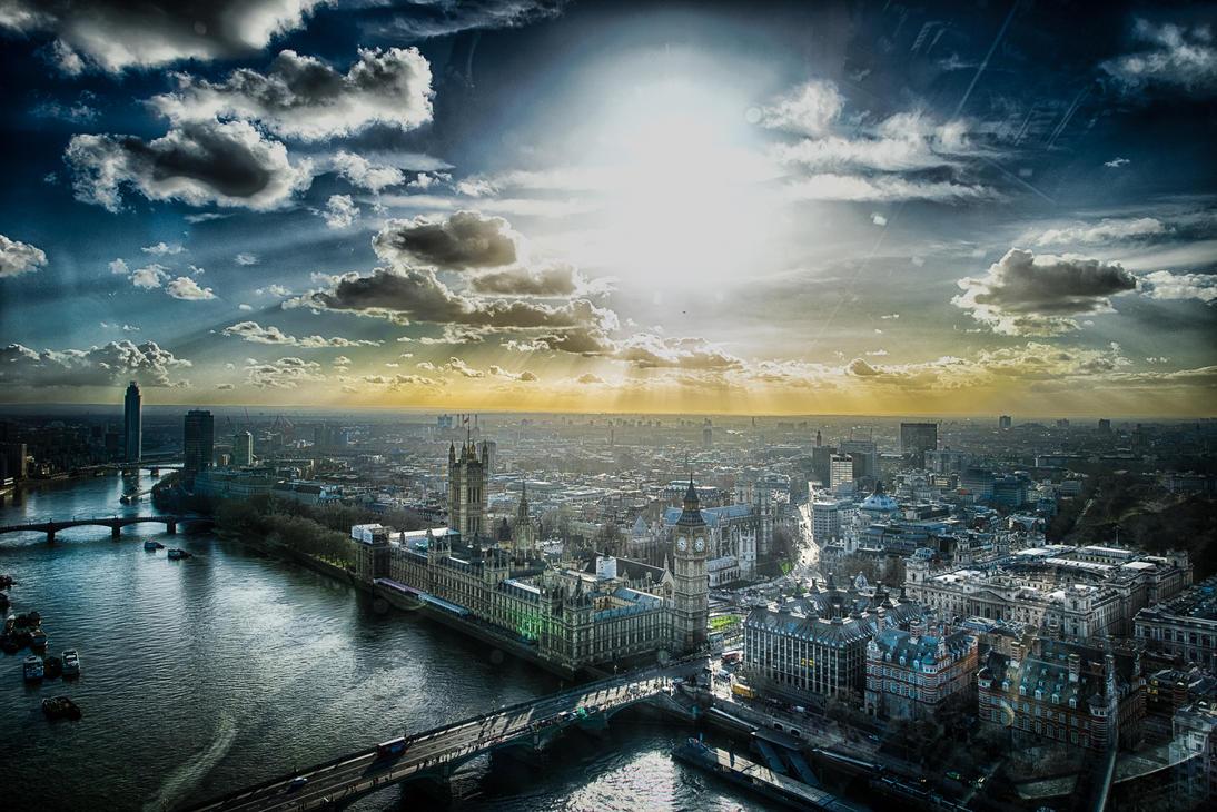 London, from sky by alierturk