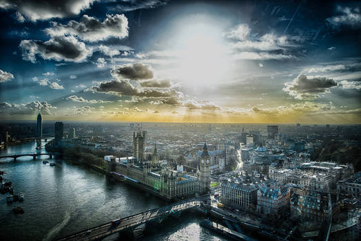 London, from sky