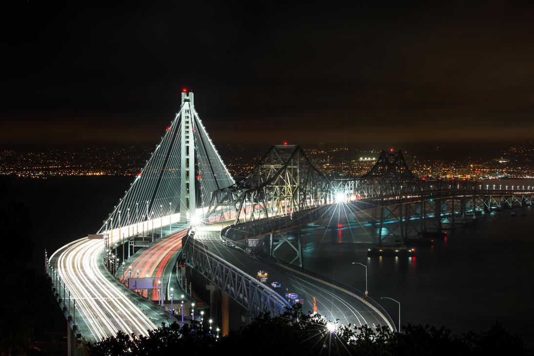 San Francisco, Bay Bridge old and new by alierturk
