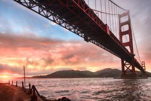 Golden Gate, underneath by alierturk