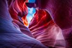 Antelope canyon, layers ahead