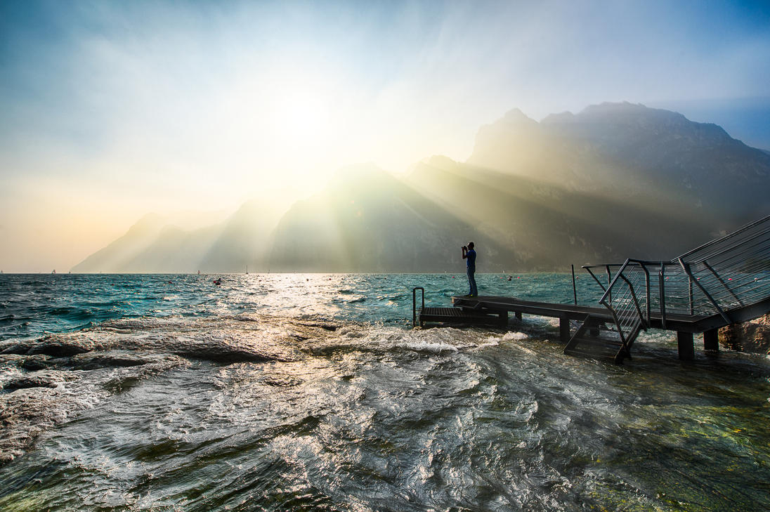 Lake Garda, surreal by alierturk