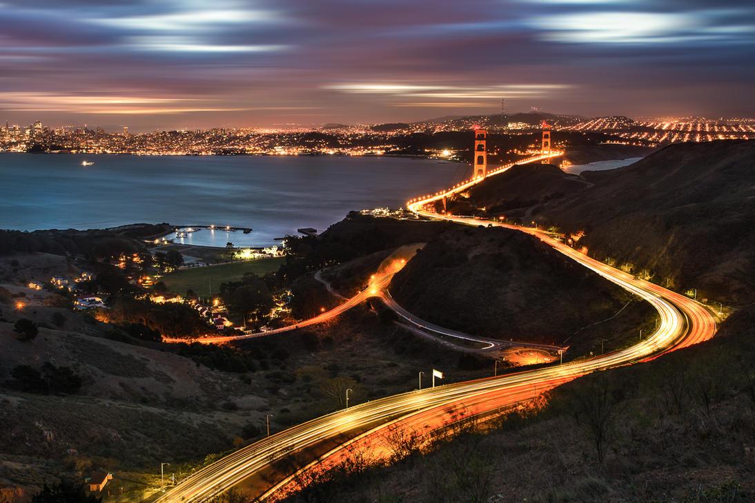 San Francisco, all roads to SF by alierturk