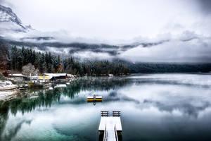 Eibsee, winter feel by alierturk