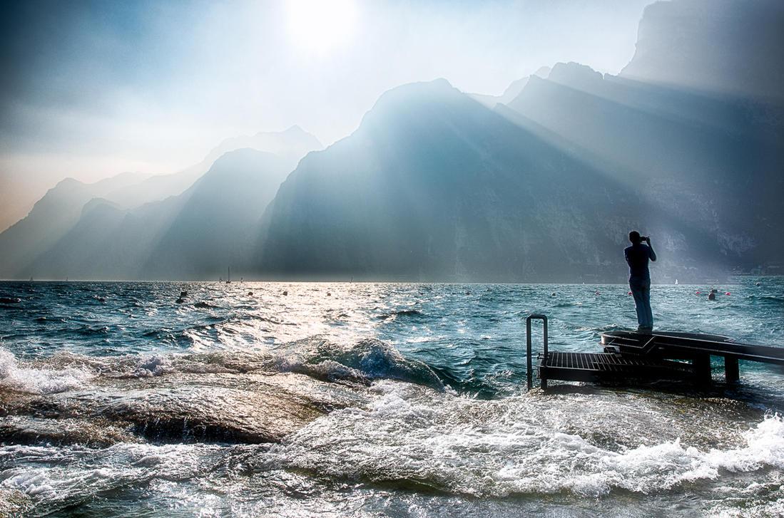 Lake Garda, amazing sunset by alierturk