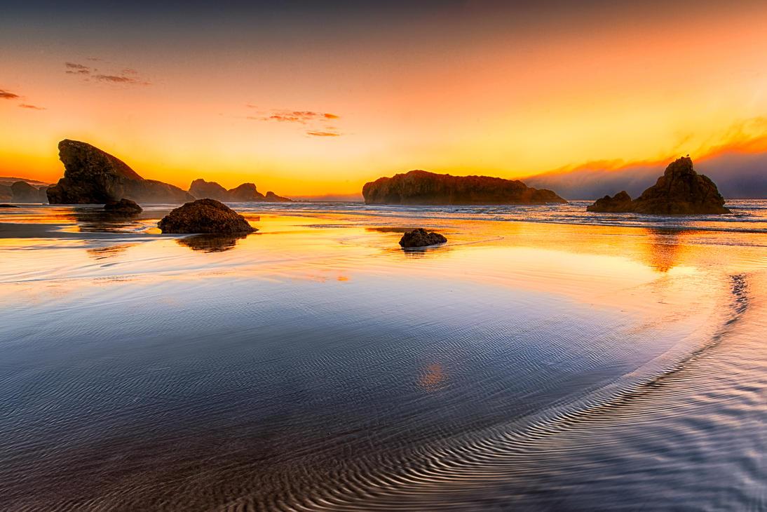 fierce, pacific ocean by alierturk