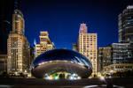 Chicago bean, night