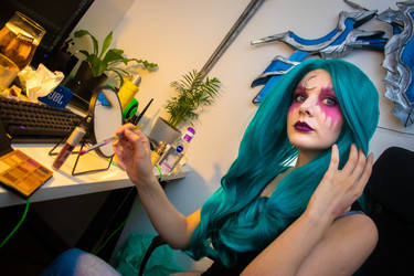Also makeup test for Tyrande cosplay