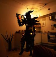 Deathwing cosplay - led lighting presentation