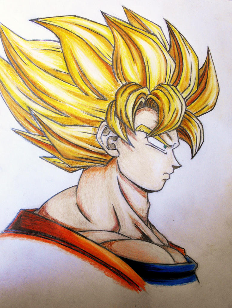 Super saiyan Goku side on by tori201