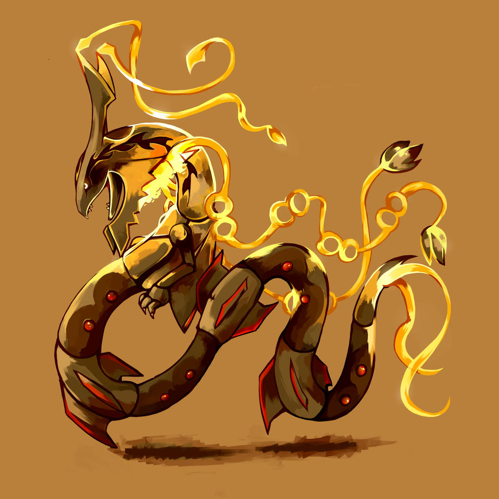 Shiny Mega Rayquaza by Creaturey on DeviantArt