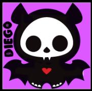 Diego the Bat skelanimals edit by xLaylarrRAWRx
